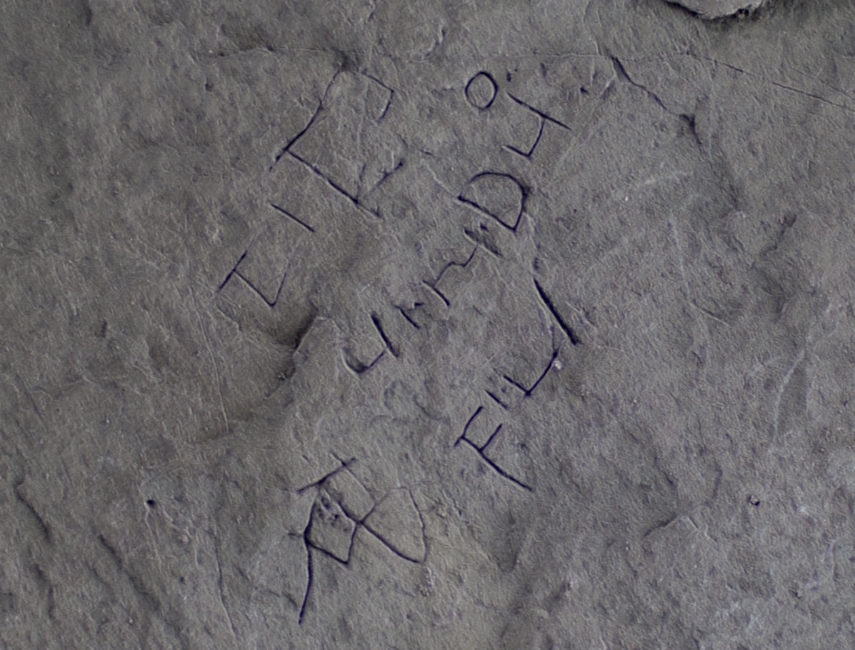 Enhanced image of the inscription