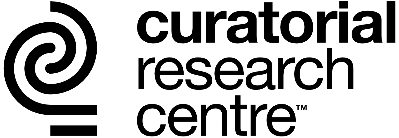 Curatorial Research Centre logo, designed by Paul Betowski